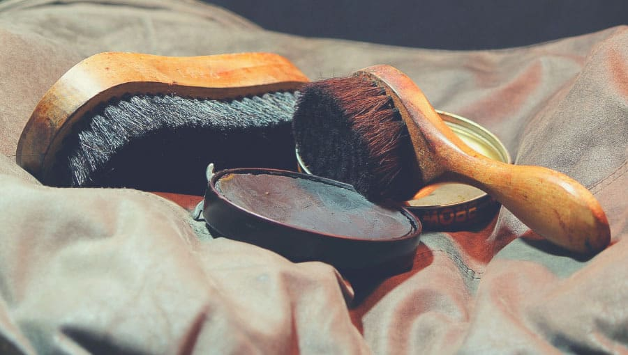 branded dark boot polish