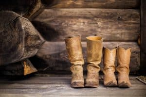 shrink leather boots