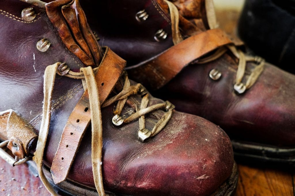 removing scuffs from leather boots